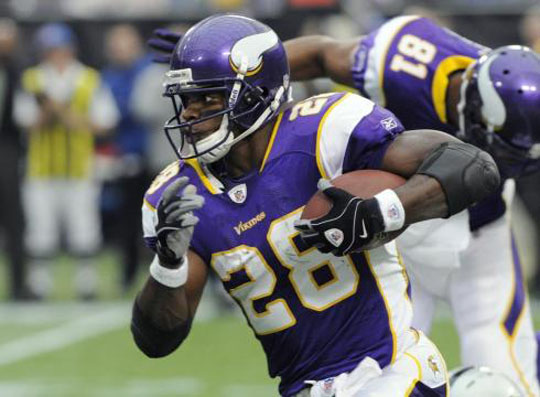 On Dec. 24, 2011, Adrian Peterson tore his ACL. On Dec. 30, 2012 he officially broke 2,000 yards and came less than ten yards shy of breaking the single-season record. The man is an inspiration, for young and old alike. (Image: AP)