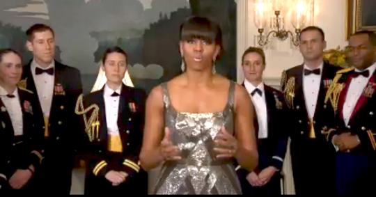 Michelle Obama military props
