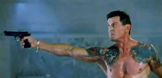 Stallone's 'Bullet to the Head' was a decent action flick, but it was hard not to smile given he's latest comments on gun control. His character Bobo is also adept at killing men with knives. Someone should ask Stallone about his thoughts on knife control.
