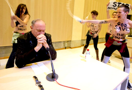 feminists attack priest