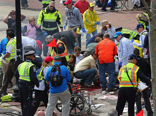 "Was the April 15 terror attack in Boston committed by terrorists or ""knock-off jihadis""? Joe Biden might go with option one or he might go with option two, depending on the day. (Image: Associated Press)"
