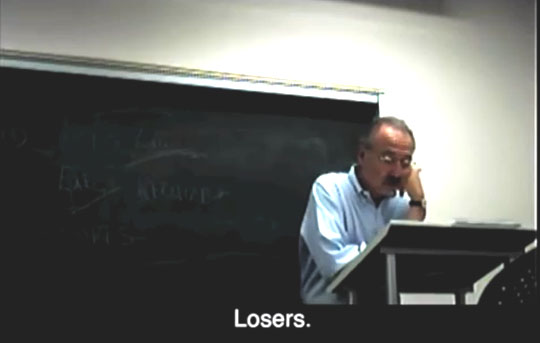 "USC's Professor Darry Sragow calls Republicans ""losers"" to his class. No, Darry, you're the loser."