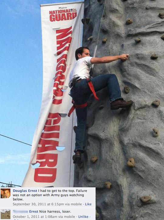 Douglas Ernst rock climb