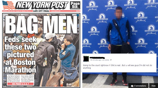 NY Post Boston Marathon Wrong Guy