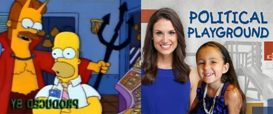 MSNBC's 'Political Playground' is better suited for a Simpsons 'Tree House of Horrors' Halloween special.