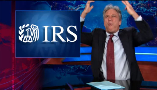 Jon Stewart's reaction to the IRS scandal is classic. He devotes years of his life mocking men and women who warn of the dangers of big government, and then gets rewarded with a great big scary slap in the face by the IRS. All one can do is throw their arms in the air and scream expletives. Sorry, Jon.