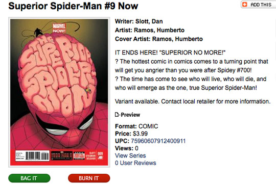 Dan Slott and Marvel decided they would fuel sales by tapping into fan anger, which is rather sad.