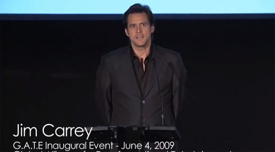Here we have Jim Carrey in 2009 telling an audience that we are all connected on a spiritual level. Only a few years later Jim would then go on to tell his fellow souls that theirs (and by extension his) was not worth protecting. D'oh!
