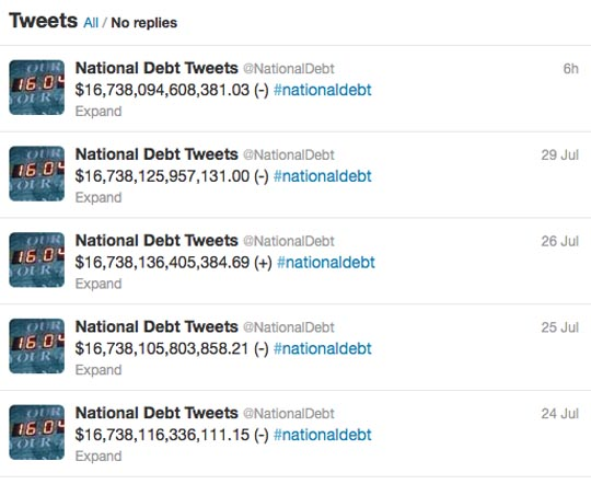 National Debt Clock Twitter