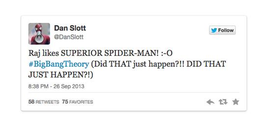 Dan Slott Big Bang Theory