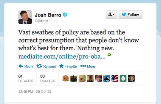 Josh Barro elitist