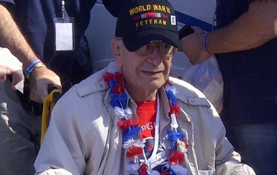 """WWII veteran Ted Bellon, 87, broke down in tears when asked if he was upset he had to see the WWII Memorial from behind a fence,"" (Fox News)."