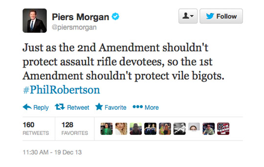 Piers Morgan First Amendment