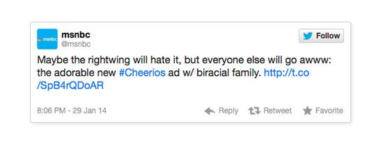 MSNBC Cheerios race bait
