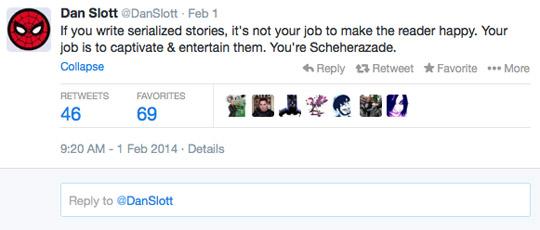 Dan Slott Twitter Scheherazade