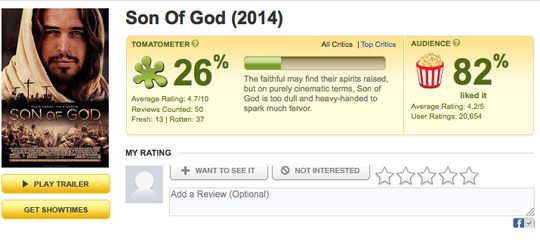 Son of God critics versus viewers