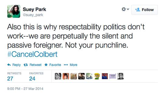 Suey Park Stephen Colbert