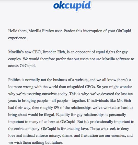 Ok Cupid Mozilla