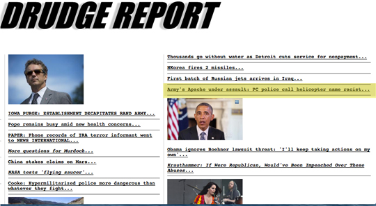 Drudge hit for my piece for The Washington Times.