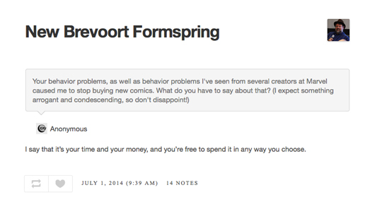 New Brevoort Formspring