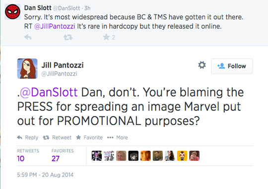 Dan Slott v Jill Pantozzi
