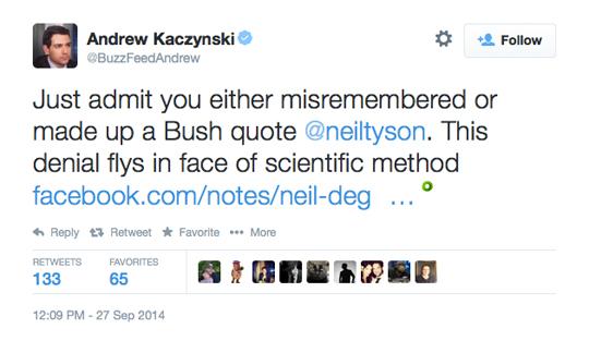Andrew Kaczynski DeGrasse