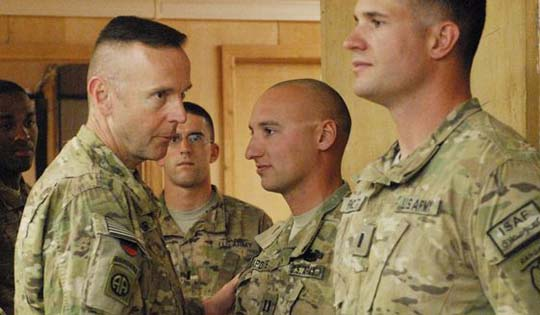 Army officers AP