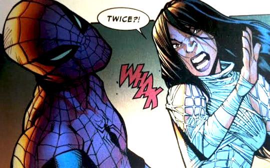 Silk slaps Spider Man