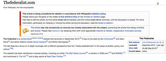 The Federalist Wiki Orwell