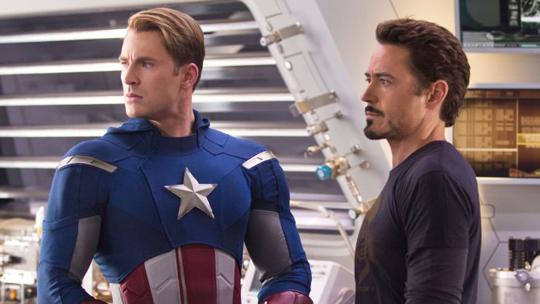 Chris Evans Robert Downey Jr Iron Man