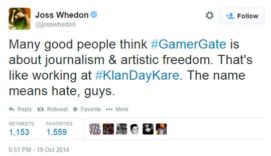 Joss Whedon GamerGate