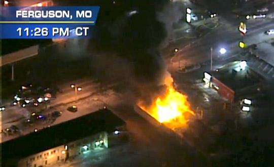 Ferguson looters break glass, burn their own community ...