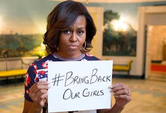 Michelle Obama Bring Back Girls AP