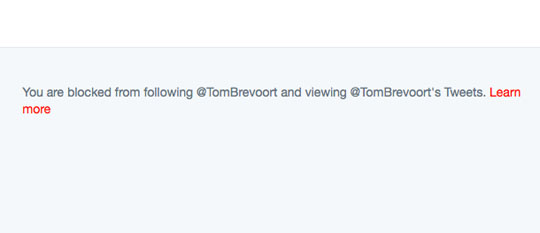 "I have also been blocked by Tom Brevoort. Marvel's reaction to intelligent criticism it can't shoot down with petty name-calling is to do the equivalent of sticking their fingers in their ears while screaming, ""I can't hear you!"""