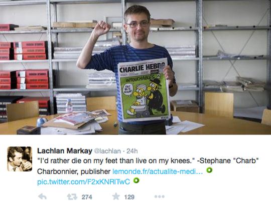 Charlie Hebdo die on my feet