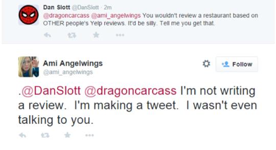 Dan Slott stalks girl Twitter 2