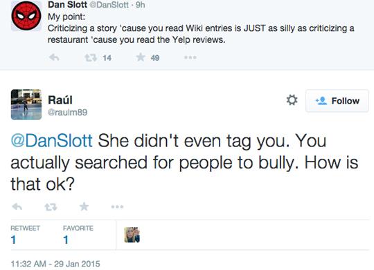 Dan Slott Twitter response