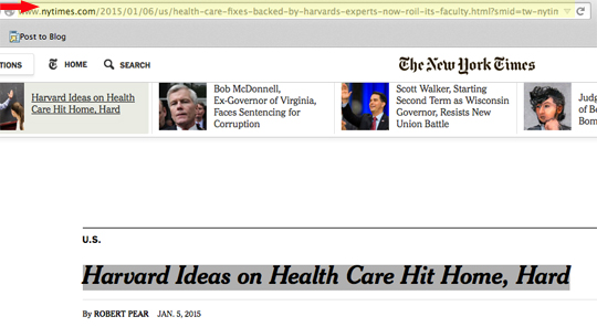 Harvard Obamacare New York Times