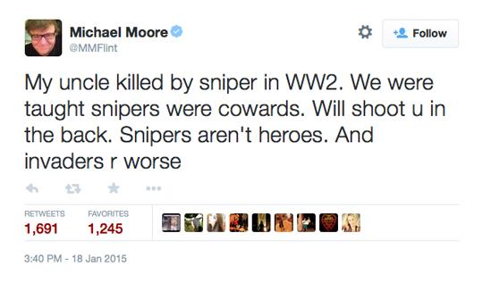 Michael Moore American Sniper