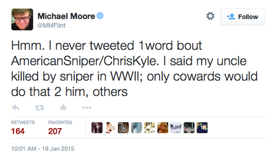 Michael Moore Chris Kyle