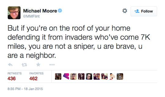 Michael Moore Twitter American Sniper