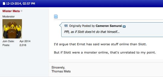 Mister Mets loves Dan Slott