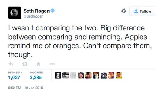 Seth Rogen American Sniper Twitter