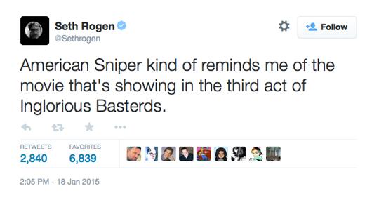 Seth Rogen American Sniper