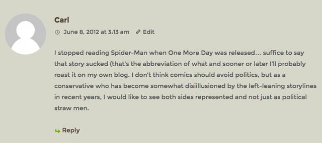 Carl WordPress comment