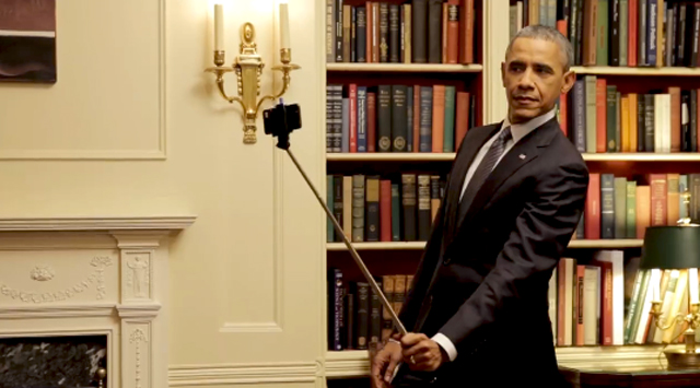 Obama selfie stick