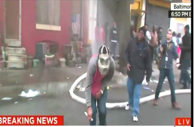 Baltimore riot firehose slash