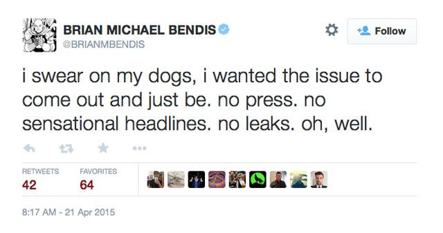 Brian Michael Bendis Ice Man gay