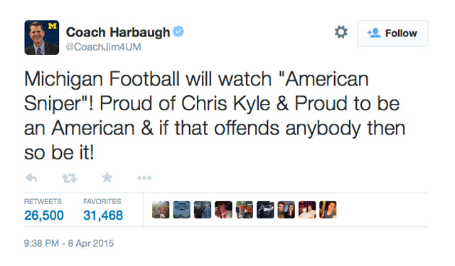 Jim Harbaugh Tweet