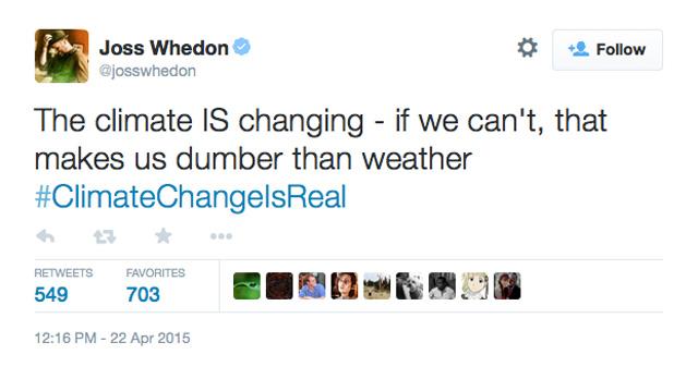 Joss Whedon Climate Change